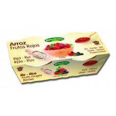 Десерт рисовый с красными фруктами, Naturgreen, 125г