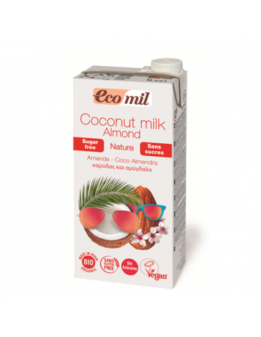 Молоко кокос-миндаль без сахара, Ecomil, 1000мл