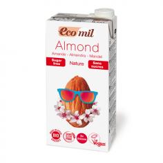 Молоко миндальное без сахара, Ecomil, 1000мл