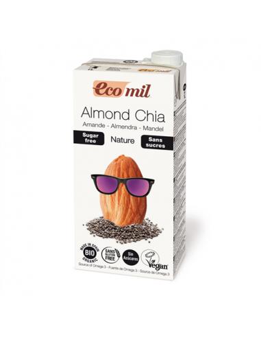 Молоко миндальное с чиа, Ecomil, 1л