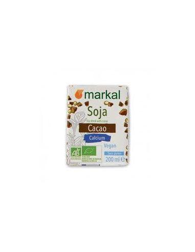 Молоко соевое с какао Soya Drink, MARKAL, 200мл