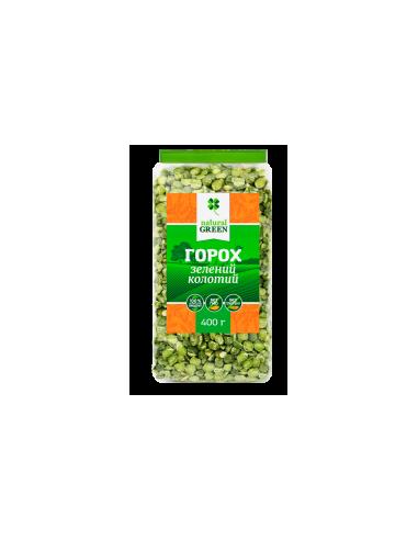 Горох зеленый колотый, 400г, Natural Green