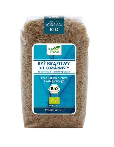 Рис длинный коричневый, Bio Planet, 500г