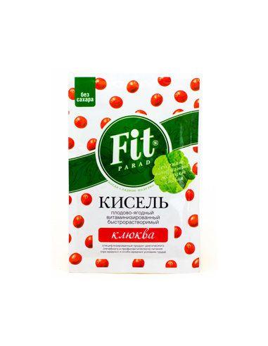 Кисель витаминизированный с клюквой, ФитПарад, 50г