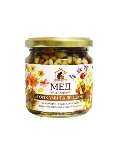 Правильный мед орехи и ягоды в меду,200мл