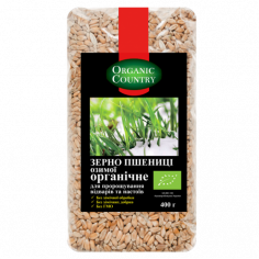 Зерно пшениці для пророщування, Україна, Organic Country, 400г