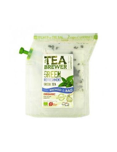 """Чай зеленый органический пак """"Грин Рефрешмент"""", 15шт GROWER'S CUP Данія"""