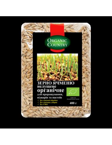 Зерно ячменя для проращивания, Украина, Organic Country, 400г