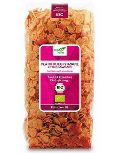 Хлопья кукурузные с клубникой, Bio Planet, 250г