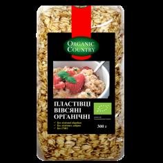 Хлопья овсяные, Украина, Organic Country, 300г