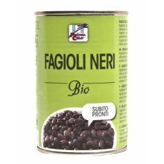 Бобы черные оранические, Organic Fagioli Nari in latina, 400г