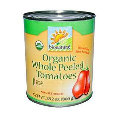 Томаты целые очищенные органические, Organic whole peeled tomatoes, Manfuso, 400 гр