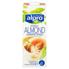 Молоко миндальное без сахара, Alpro, 1000мл