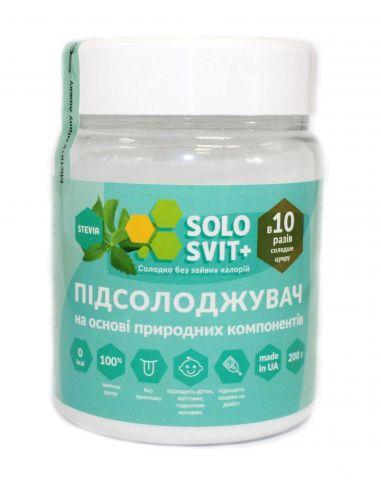 """Подсластитель """"Солосвіт Stevia + """", 200г"""