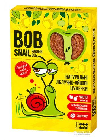 Натуральные яблочно-айвовые конфеты bob snail (Равлик Боб), 60г