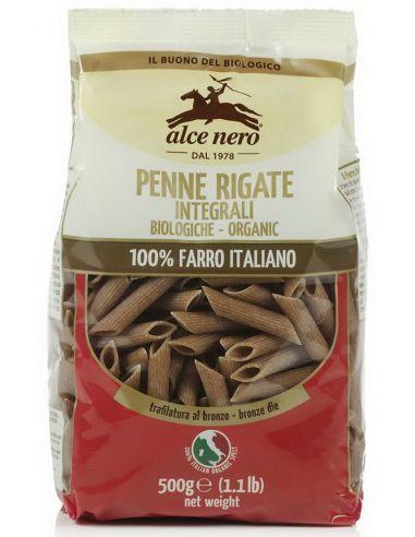 Макароны из муки грубого помола Penne (спельта), Alce Nero, 500 г