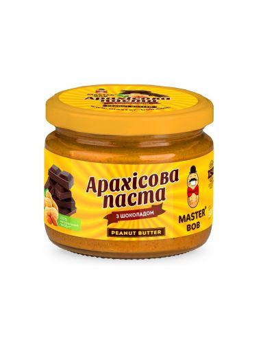 Паста арахисовая с шоколадом, Мастер Боб, 200г