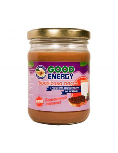 Паста арахисовая с черным шоколадом и мятой, GoodEnergy, 180г