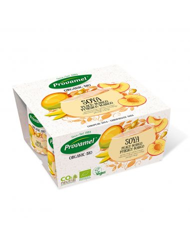 Йогурт соєвий персик-манго, Provamel, 125г.