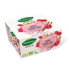Йогурт соєвий з малиною і ваніллю Provamel, 125г.