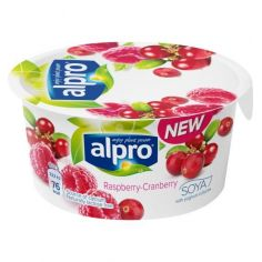 Йогурт соевый с малиной и клюквой, Alpro, 150г.