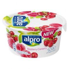 Йогурт соєвий з малиною і журавлиною, Alpro, 150г.