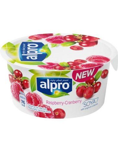 Йогурт соевый с малиной и клюквой, Alpro, 150г.