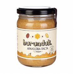 Паста арахісова з медом, БУРУНДУК, 250г