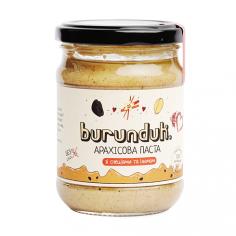 Паста арахісова з родзинками та спеціями, БУРУНДУК, 250г