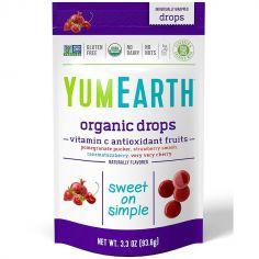 Цукерки льодяники Асорті фрукти-антиоксиданти з вит С, кошер, Yumearth, 93,6г