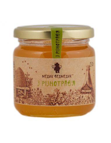 Мед з різнотрав'я, Медик Ведмедик, 250г