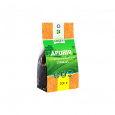 Аронія сушена, Natural Green, 100г