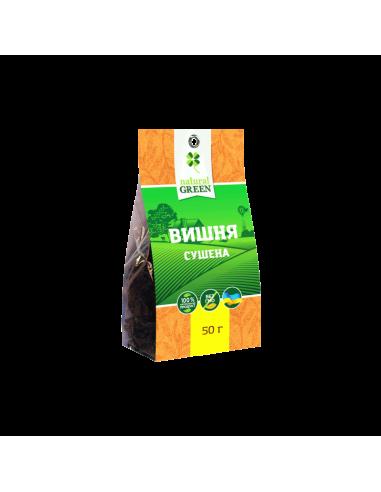 Вишня сушена без кісточок, Natural Green, 50г