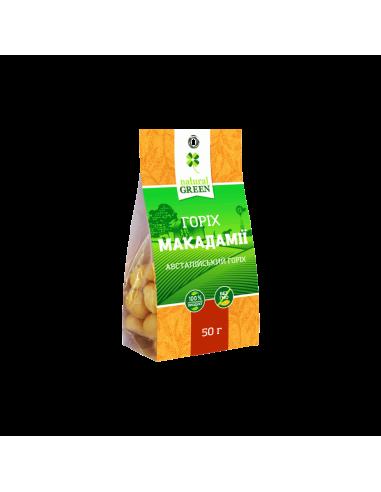 Горіх макадамії, Natural Green, 50г