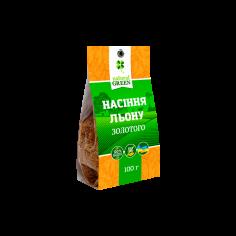 Насіння золотого льону, NATURAL GREEN, 100г