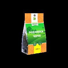 Родзинки чорні, Natural Green, 100г
