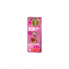Натуральні яблучно-малинові цукерки bob snail (Равлик Боб), 30г