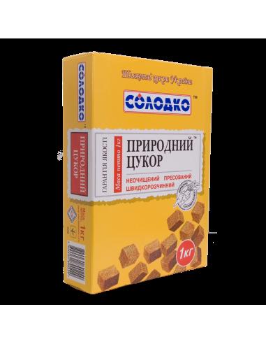 Цукор буряковий нерафінований пресований, Солодко, 1000г