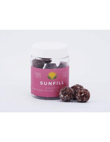 Цукерки з журавлиною і кокосом, Sunfill, 160г