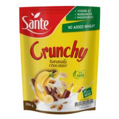 Кранчи с бананом и шоколадом, Sante, 350г