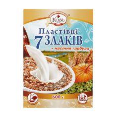 Пластівці 7 злаків та насіння гарбуза, Козуб Продукт, 600г