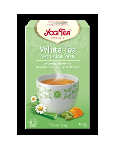"""Чай """"White Tea"""" с алоэ вера, Yogi Tea, пакет, 1,8г"""