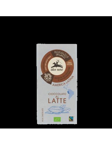 Шоколад молочний (36%) 100 г - Alce Nero