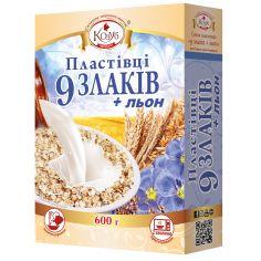 Пластівці 9 злаків та льон, Козуб Продукт, 600г