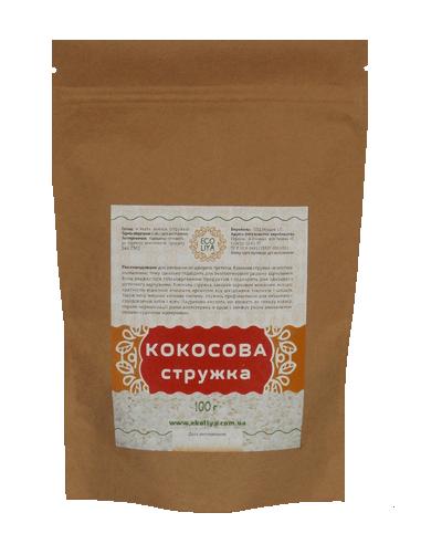 Стружка кокосова, EcoLiya, 100г