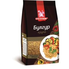 Крупа пшенична Булгур, Сто Пудов, 400г