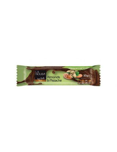 Батончик молочний шоколад з фундуком та стевією LaNouba, 35г