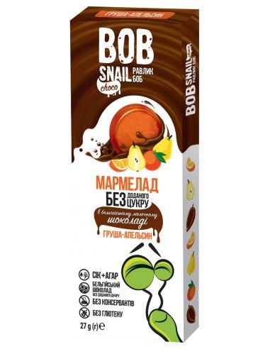 Мармелад груша-апельсин в бельгійському молочному шоколаді bob snail (Равлик Боб), 27г
