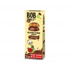 Натуральні яблучно-грушеві цукерки в бельгійському молочному шоколаді bob snail (Равлик Боб), 30г