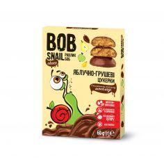 Натуральні яблучно-грушеві цукерки в бельгійському молочному шоколаді bob snail (Равлик Боб), 60г